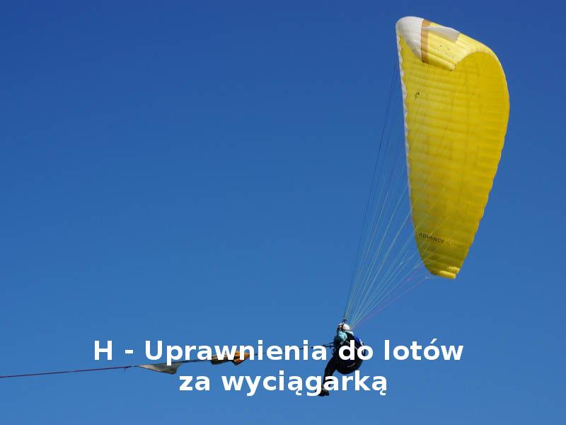H – Uprawnienia do lotów za wyciągarką